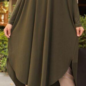 Khaki V dress